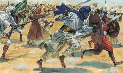 Figurines militaires : Guerriers arabes - 1/72 - Italeri 06055