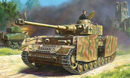 Maquette véhicule militaire : Panzer IV Ausf H - 1:72 - Zvezda 5017