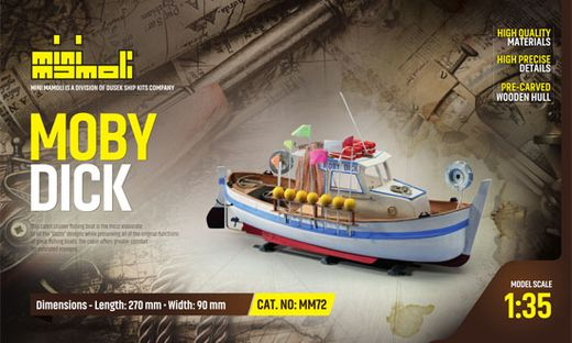 Maquette bateau bois - MOBY DICK 1/35 - Mamoli MM72