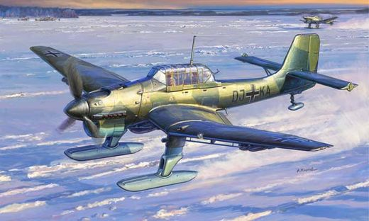 Maquette d'avion militaire : Ju87B-2/U4 avec Skis - 1/72 - Zvezda 07323