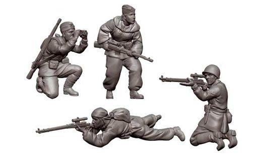 Figurines militaires : Tireurs d'élite Soviétiques - 1/72 - Zvezda 06193