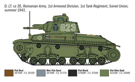 Maquette militaire : Pz. Kpfw. 35(t) - 1:72 - Italeri 07084 7084