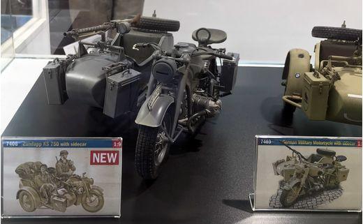 Maquette militaire : Zündapp KS 750 Sidecar - 1:9 -Italeri 7406 07406