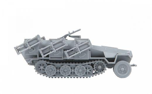 Maquette militaire : Sd.Kfz.251/1 Ausf.B Stuka zu Fuss - 1/100 - Zvezda 6243 06243