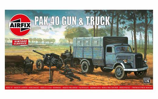 Maquette de véhicule militaire : PAK 40 Gun & Truck - 1:76 - Airfix 02315V