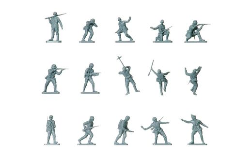 Figurines militaires : Infanterie allemande WWII - 1:72 - Airfix 00705, 1705