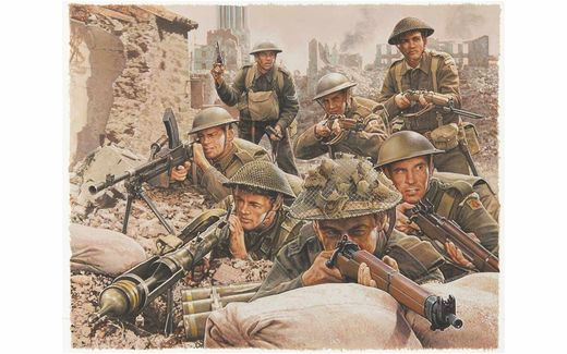 Figurines militaires : Infanterie anglaise WWII - 1:72 - Airfix 00763, 1763