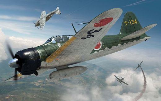 Maquette d'avion militaire : Mitsubishi A6M2b Zero - 1:72 - Airfix 01005