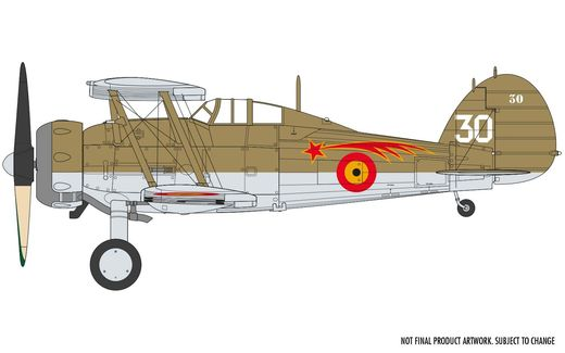 Maquette d'avion militaire : Gloster Gladiator MK,1 - 1:72 - Airfix 02052A 2052A