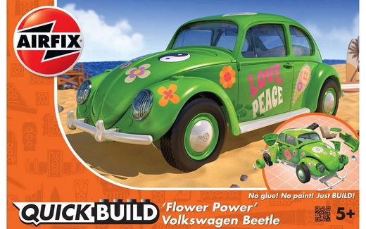 "Maquette voiture de collection : Quick Build Volkswagen Beetle ""Flower Power"" - Airfix J6031"