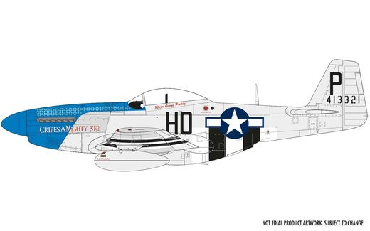 Maquette d'avion militaire : North American P-51D Mustang - 1/48 - Airfix 05138 5138