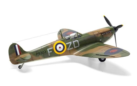 Maquette avion : Supermarine Spitfire Mk 1.a - 1:48 - Airfix 05126A 5126A - france-maquette.fr