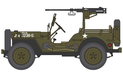 MaquetteWillys MB Jeep - Airfix 55117
