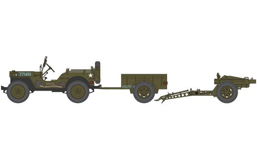 Maquette Willys MB Jeep - Airfix 55117