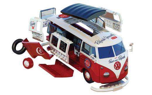 Maquette voiture : QUICKBUILD Coca-Cola VW Camper Van - Airfix J6047 - france-maquette.fr