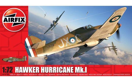 Maquette avion militaire : Hawker Hurricane Mk1 - 1:72 - Airfix 01010A 1010A - france-maquette.fr