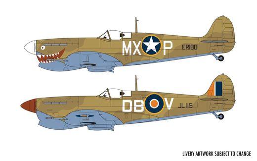 Maquette avion militaire : Supermarine Spitfire Mk Vc - 1:72 - Airfix 02108 A02108 - france-maquette.fr