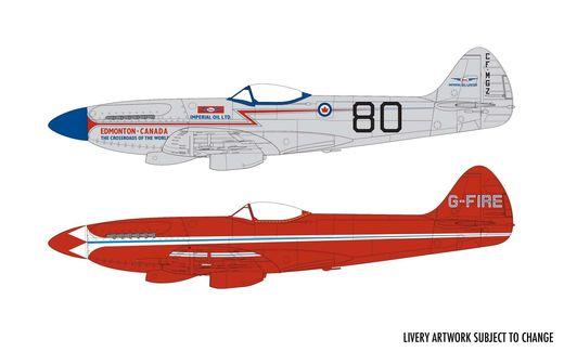 Maquette militaire : Supermarine Spitfire MkXIV Race Schemes - 1:48 - Airfix 05139 5139 - france-maquette.fr