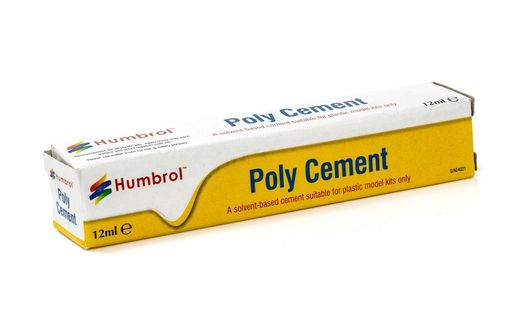 Outil de modélisme : Tube Poly Cement 12 ml - Humbrol AE4021 - france-maquette.fr