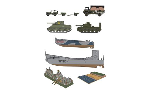 Maquette militaire : D-Day Operation Overlord Set - 1:76 - Airfix 50162A