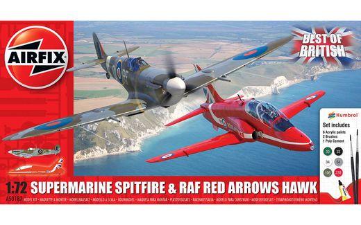 Maquette avion : Best of British Spitfire and Hawk - 1:72 - Airfix 050187 50187