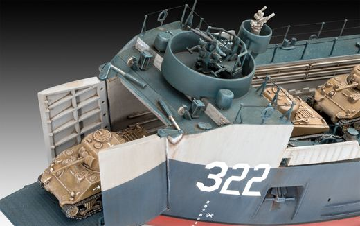 Maquette bateau : US Navy Landing Ship Medium - 1:144 - Revell 05169, 5169 - france-maquette