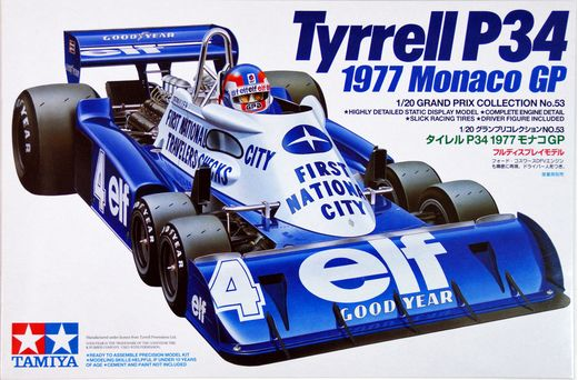 Maquette voiture : Tyrrell P34 1977 Monaco - 1/20 - Tamiya 20053
