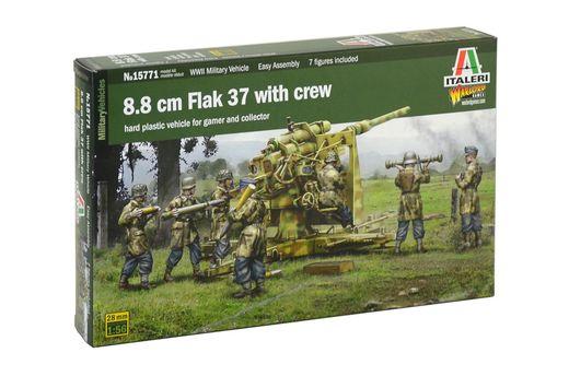 Maquette militaire : FlaK 37 88mm et Servants - 1:56 -Italeri 15771