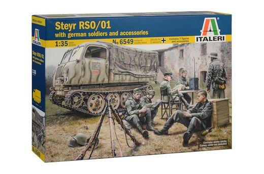 Maquette militaire : Steyr rso/01 et soldats allemands - 1:35 - Italeri 06549 6549 - france-maquette.fr