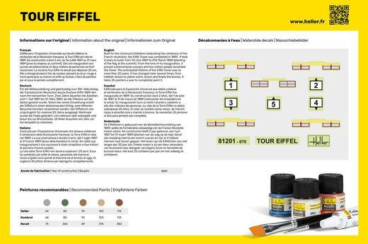 Maquette architecture : Starter Kit Tour Eiffel - 1:650 - Heller 57201