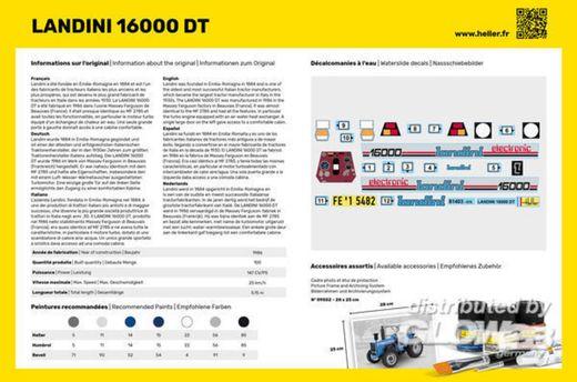 Maquette véhicule : Starter Kit LANDINI 16000 DT - 1:24 - Heller 57403