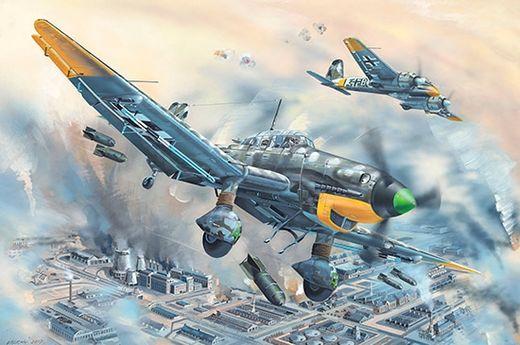 Maquette avion militaire : Junkers Ju-87D-5 Stuka - 1/24 - Trumpeter 752424