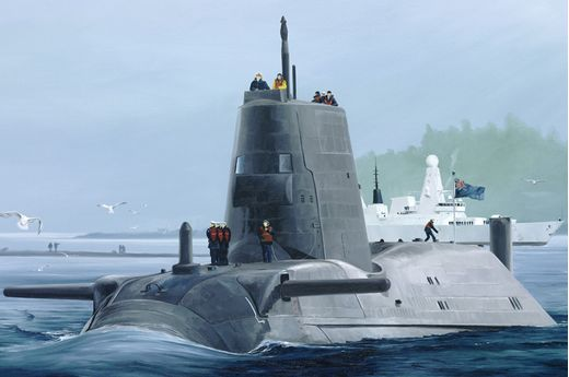 Maquette navire militaire : HMS Astute - Sous-marin Royal Navy 2016 - 1:350 - Hobby Boss 83509