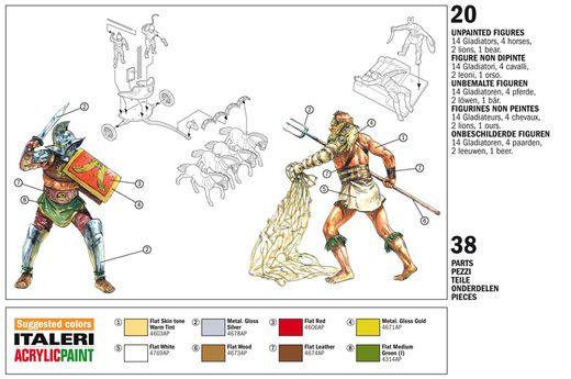 Figurines miniatures : Gladiateurs - 1:72 - Italeri 06062