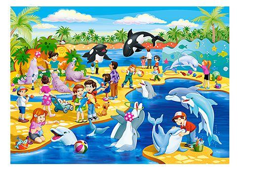 Puzzle Dauphin - 60 pièces - Castorland 066148