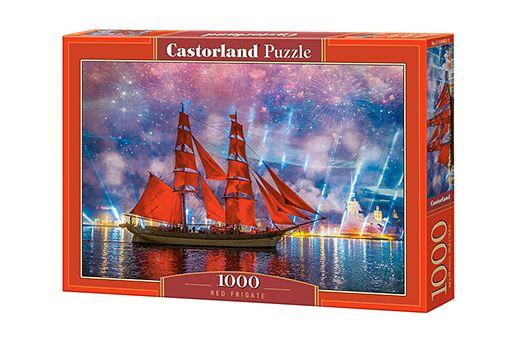 Puzzle Frégate rouge- 1000 pièces - Castorland 104482-2