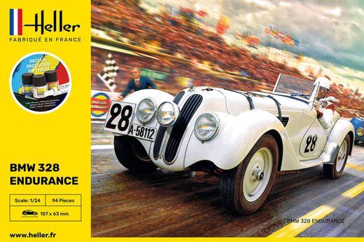 Maquette voiture : Starter Kit 328 Endurance - 1:24 - Heller 56782
