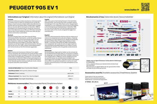 Maquette voiture de collection : Peugeot 905 EV 1 - 1/24 - Heller 80718