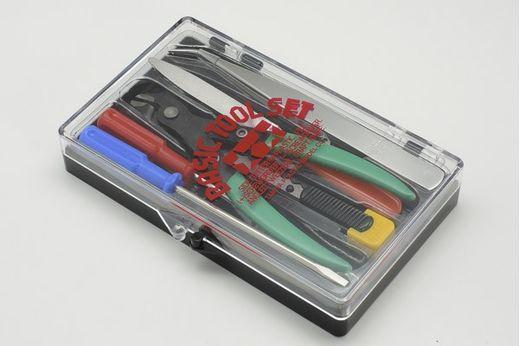 Set d'outils de base modélisme, maquettes : lime, tournevis... - Tamiya 74016