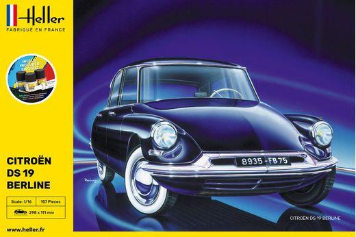 Maquette voiture : Starter Kit Citroën DS 19 - 1:16 - Heller 56795