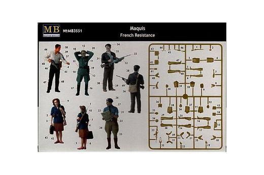 Figurines militaires : Résistants français et maquisards - 1:35 - Masterbox 03551
