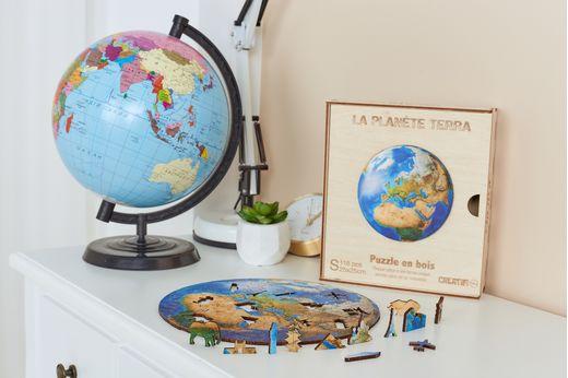 Puzzle décoratif en bois : Planète terra - Créatif Puzzle