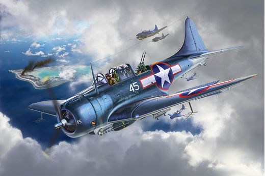 Maquette avion : Sbd-5 Dauntless - 1:48 - Revell 03869, 3869