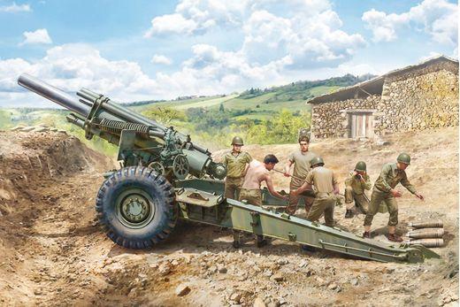 Maquette artillerie militaire : M1 155mm Howitzer - 1:35 - Italeri 06581 6581