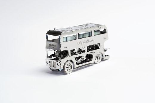 Kit de construction mécanique en métal - Cute Double Decker – TimeForMachine 38028