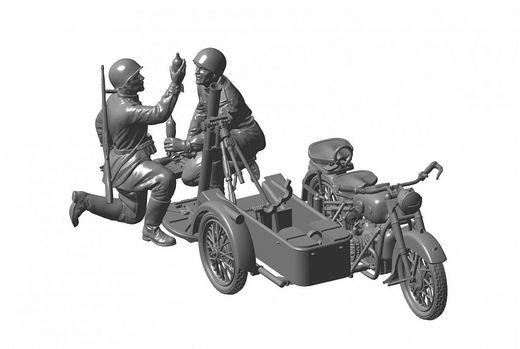 Maquette militaire : Moto M‐72 avec mortier 82mm - 1/35 - Zvezda 03651 3651