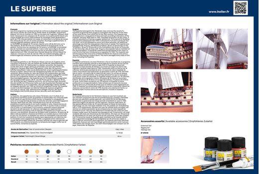 Maquette voilier : Starter Kit Le Superbe - 1:150 - Heller 58895