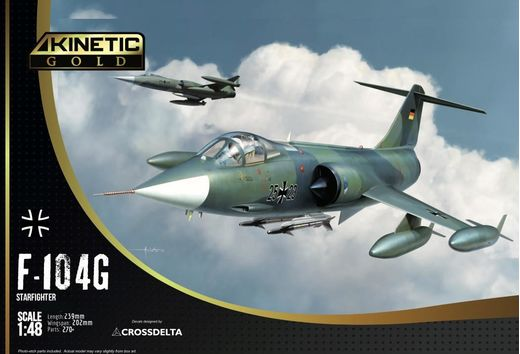 Maquette avion militaire F-104G Germany Air Force and Marine in 1:48 - KINETIC 48083
