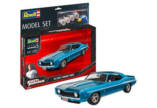 Boîte maquette voiture : Model Set F&F 1969 Chevy Camaro Yenko 1:25 - Revell 67694