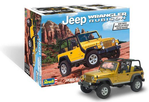 Maquette de voiture de collection : Jeep Wrangler Rubicon - 1/25 - Revell US 14501